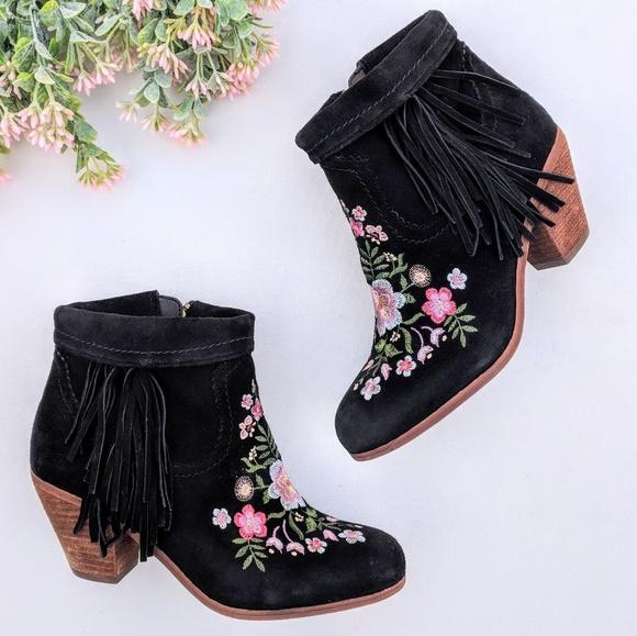 4406a154ddd9 Sam Edelman Letti Embroidered Ankle Boots. M 5ae22ce950687c2b1f32482a